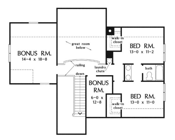 Craftsman Floor Plan - Upper Floor Plan Plan #929-918