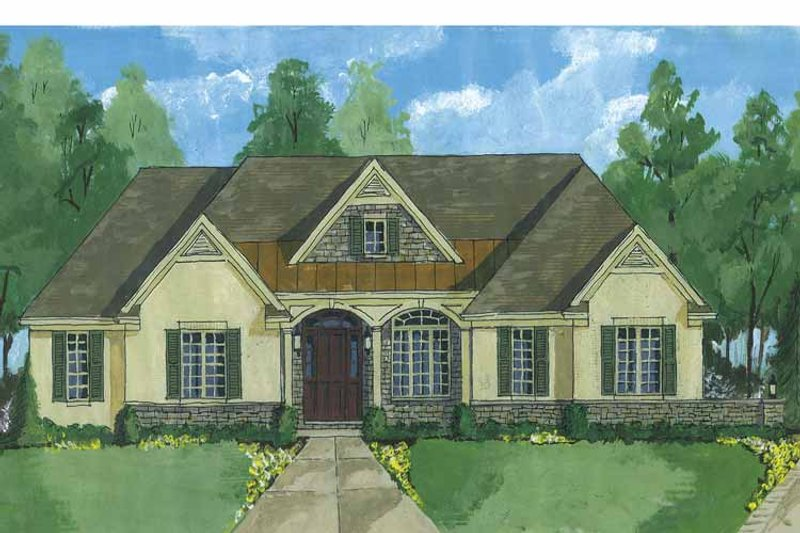 Country Exterior - Front Elevation Plan #46-829 - Houseplans.com