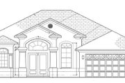Mediterranean Style House Plan - 3 Beds 2 Baths 1623 Sq/Ft Plan #1058-35 Exterior - Front Elevation