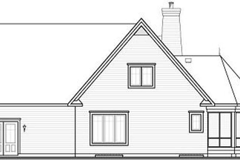 European Exterior - Rear Elevation Plan #23-855 - Houseplans.com
