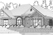 Traditional Style House Plan - 4 Beds 3 Baths 2695 Sq/Ft Plan #63-223 Exterior - Front Elevation