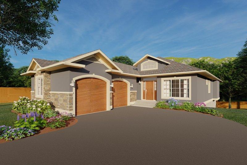 Craftsman Exterior - Front Elevation Plan #126-198
