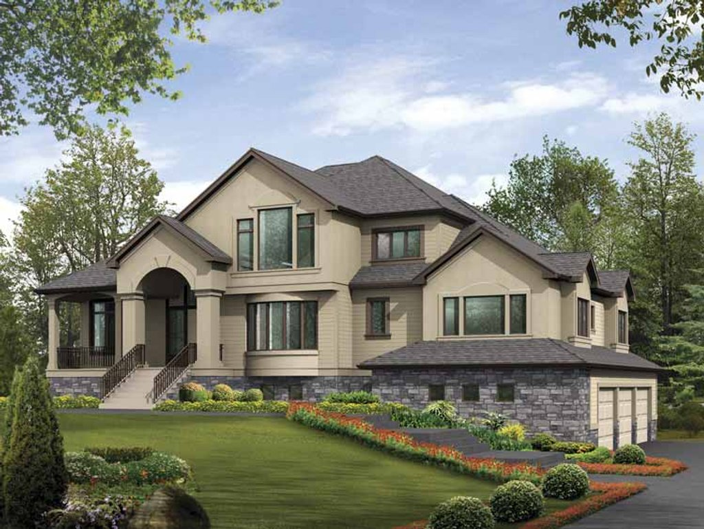 Contemporary style house plan 4 beds 5 baths 4795 sq ft for Www homeplans com