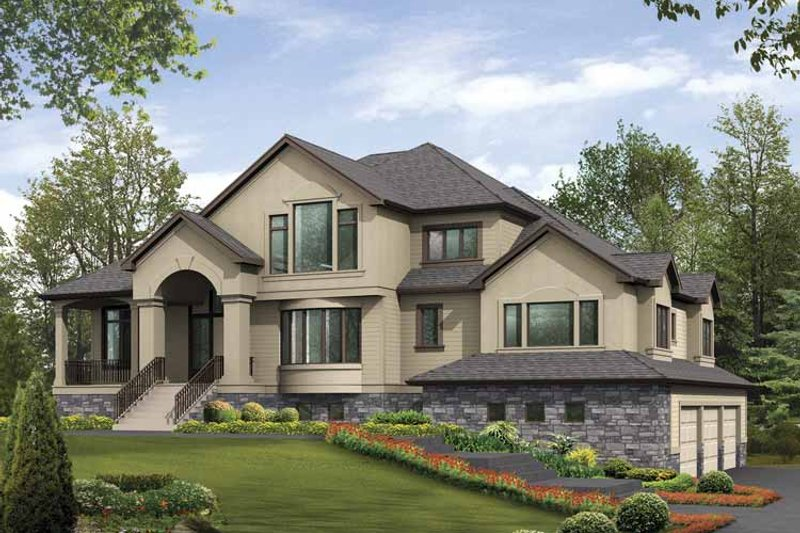 Contemporary Exterior - Front Elevation Plan #132-511 - Houseplans.com