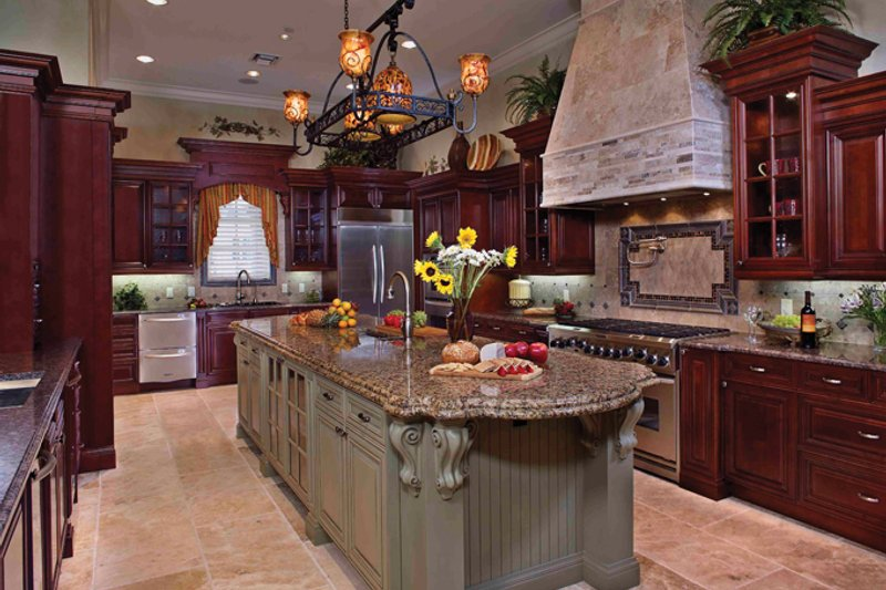 Mediterranean Interior - Kitchen Plan #1058-1 - Houseplans.com