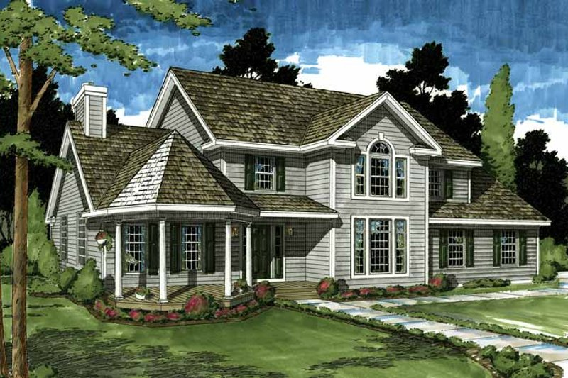 Dream House Plan - Classical Exterior - Front Elevation Plan #1029-46