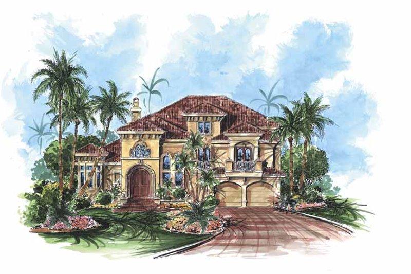 Dream House Plan - Mediterranean Exterior - Front Elevation Plan #1017-59