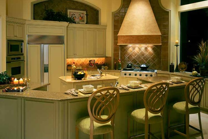 Mediterranean Interior - Kitchen Plan #930-319 - Houseplans.com