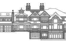 Craftsman Exterior - Rear Elevation Plan #132-565