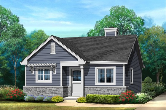 Cottage Exterior - Front Elevation Plan #22-607