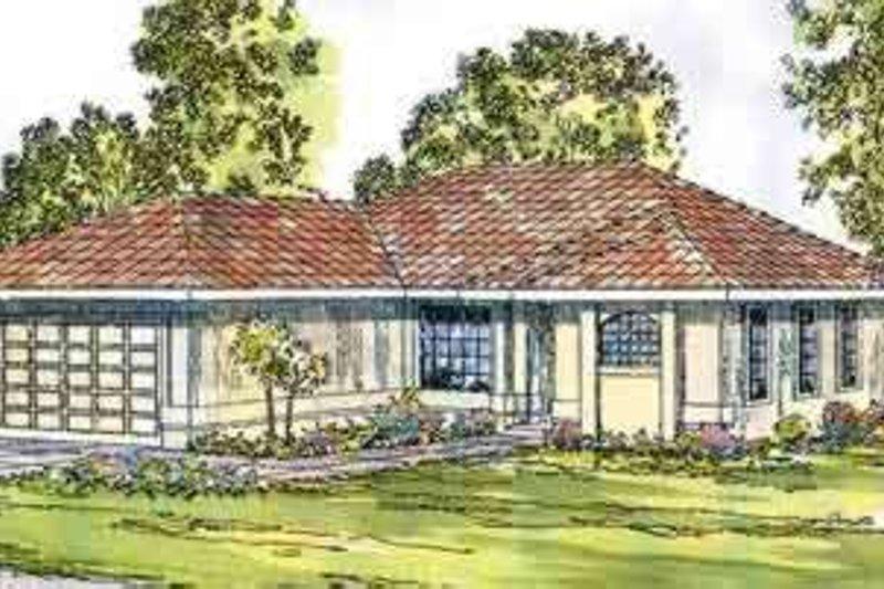 Dream House Plan - Mediterranean Exterior - Front Elevation Plan #124-433