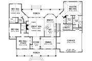 Country Style House Plan - 4 Beds 3 Baths 2195 Sq/Ft Plan #929-20 Floor Plan - Main Floor Plan