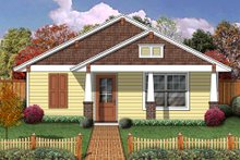 Craftsman Exterior - Front Elevation Plan #84-499