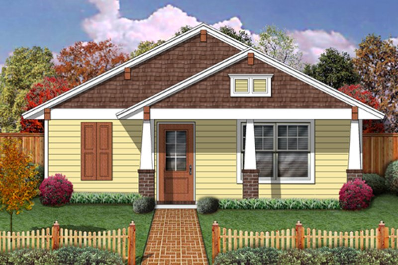Architectural House Design - Craftsman Exterior - Front Elevation Plan #84-499
