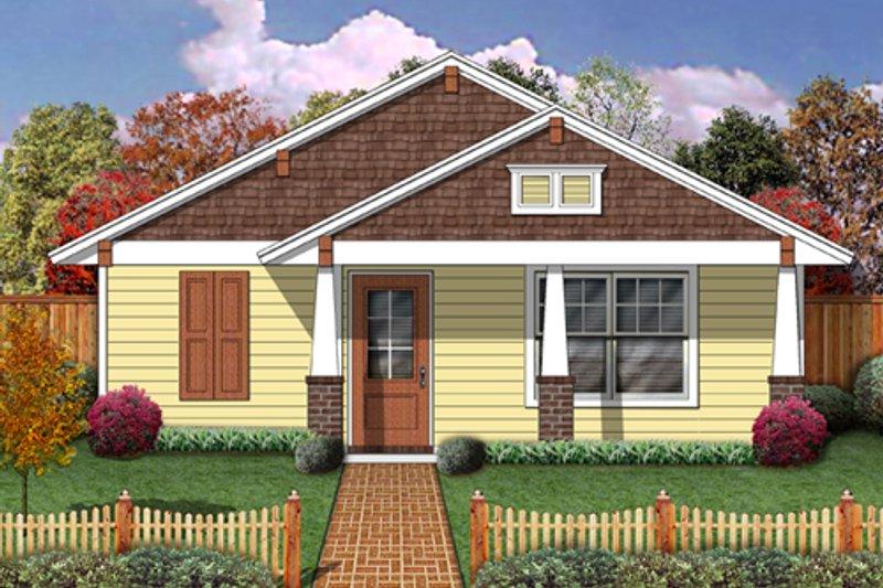 Dream House Plan - Craftsman Exterior - Front Elevation Plan #84-499