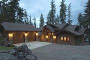 Craftsman Style House Plan - 3 Beds 3.5 Baths 3236 Sq/Ft Plan #921-17 Exterior - Front Elevation
