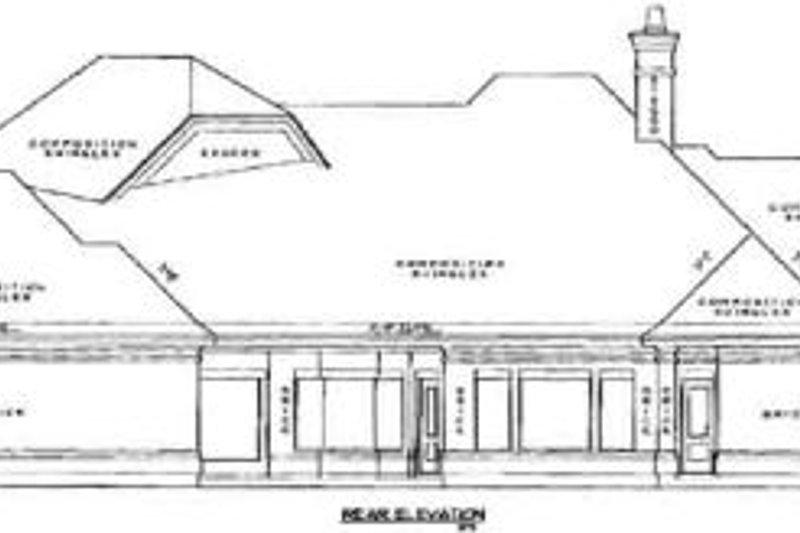 European Exterior - Rear Elevation Plan #61-243 - Houseplans.com