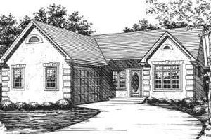 Ranch Exterior - Front Elevation Plan #30-138