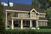 Contemporary Style House Plan - 2 Beds 2 Baths 1923 Sq/Ft Plan #118-114 Exterior - Front Elevation