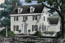 Colonial Exterior - Front Elevation Plan #137-223