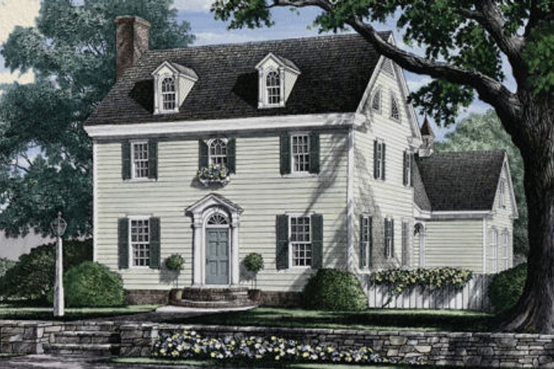 Architectural House Design - Colonial Exterior - Front Elevation Plan #137-223