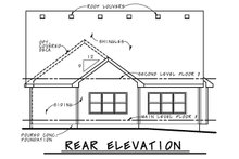 Home Plan - Craftsman Exterior - Rear Elevation Plan #20-2188