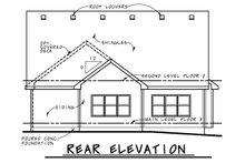 Dream House Plan - Craftsman Exterior - Rear Elevation Plan #20-2188