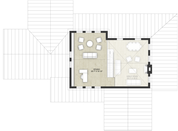 Modern Floor Plan - Upper Floor Plan Plan #924-6