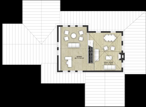 Modern Floor Plan - Upper Floor Plan Plan #924-6