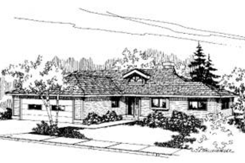 Ranch Exterior - Front Elevation Plan #60-359