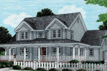 House Design - Country Exterior - Front Elevation Plan #20-2036
