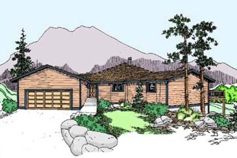Traditional Exterior - Front Elevation Plan #60-524 - Houseplans.com