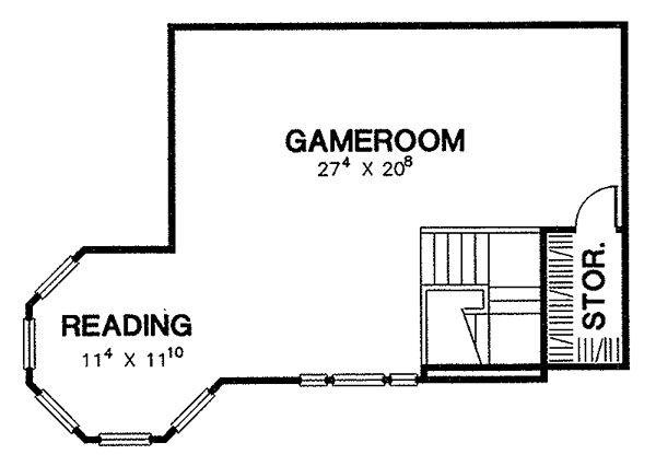 Victorian Floor Plan - Upper Floor Plan Plan #472-13