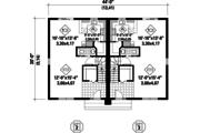 Contemporary Style House Plan - 5 Beds 2 Baths 2666 Sq/Ft Plan #25-4520 Floor Plan - Main Floor Plan