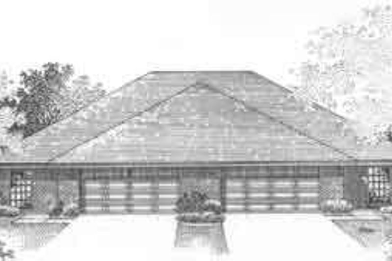 Traditional Exterior - Front Elevation Plan #310-465 - Houseplans.com