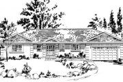 European Style House Plan - 2 Beds 2 Baths 1649 Sq/Ft Plan #18-9217 Exterior - Front Elevation
