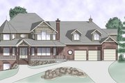 Victorian Style House Plan - 5 Beds 3.5 Baths 5090 Sq/Ft Plan #5-228 Exterior - Front Elevation