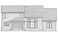 House Plan Design - Country Exterior - Rear Elevation Plan #46-900