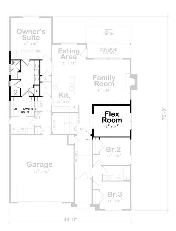House Plan Design - Cottage Floor Plan - Other Floor Plan #20-2187