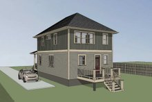 Dream House Plan - Southern Exterior - Rear Elevation Plan #79-196