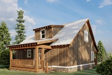 Dream House Plan - Country Exterior - Rear Elevation Plan #923-46