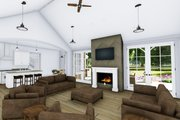 Farmhouse Style House Plan - 3 Beds 4 Baths 2593 Sq/Ft Plan #1069-2 Interior - Family Room