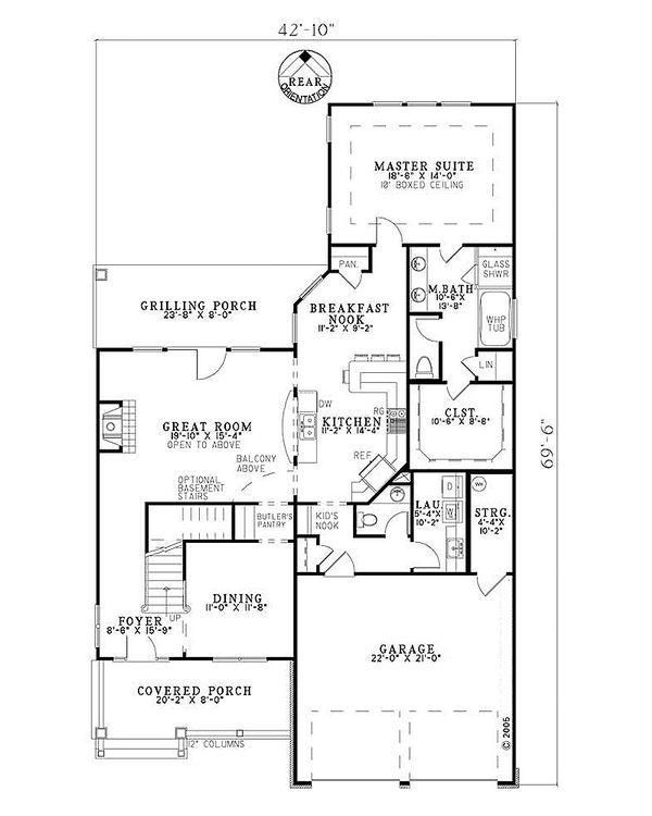 Country Floor Plan - Main Floor Plan #17-2268