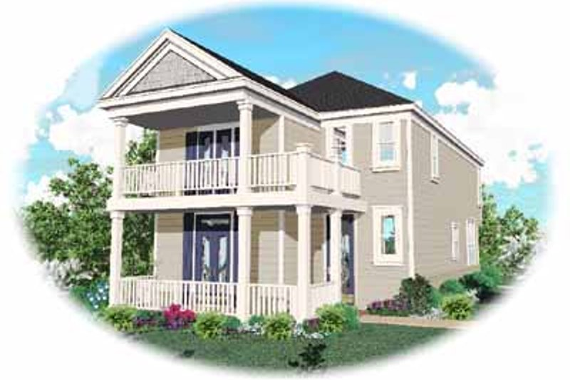 Southern Style House Plan - 3 Beds 2.5 Baths 1670 Sq/Ft Plan #81-114 Exterior - Front Elevation