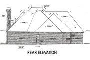 European Style House Plan - 4 Beds 3.5 Baths 2946 Sq/Ft Plan #310-632 Exterior - Rear Elevation