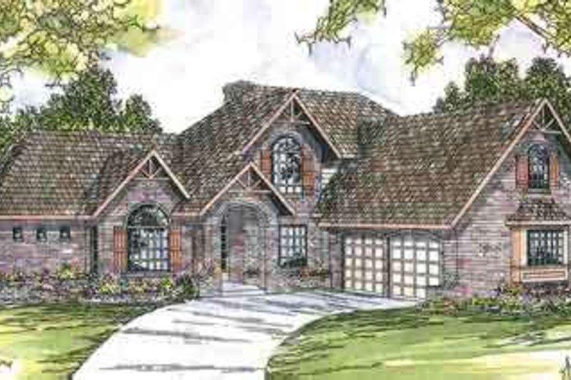 Dream House Plan - European Exterior - Front Elevation Plan #124-417