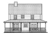 Southern Style House Plan - 4 Beds 2.5 Baths 1758 Sq/Ft Plan #3-144 Exterior - Rear Elevation