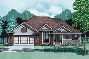 Traditional Style House Plan - 3 Beds 2 Baths 1710 Sq/Ft Plan #20-138 Exterior - Front Elevation