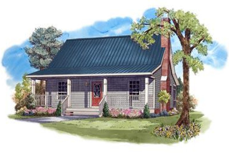 Farmhouse Style House Plan - 2 Beds 1 Baths 950 Sq/Ft Plan #21-232 Exterior - Front Elevation