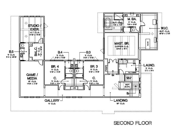 Contemporary Floor Plan - Upper Floor Plan Plan #449-21
